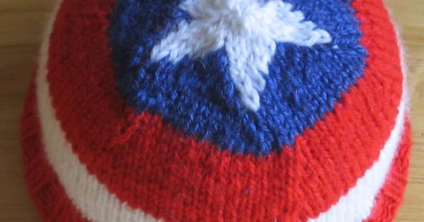 Super Hero Knitting Patterns DIY y manualidades, Capitan america y Sombreros
