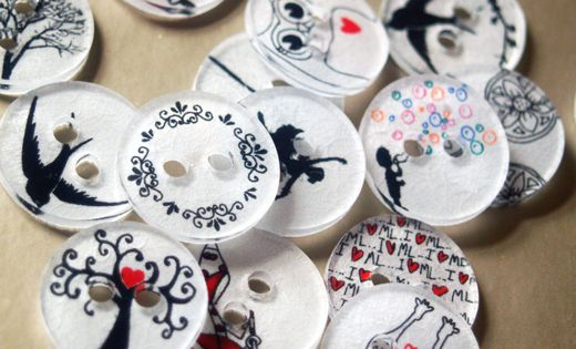 "Shrink Plastic Buttons - AKA ""Shrinky Dink"" Buttons"