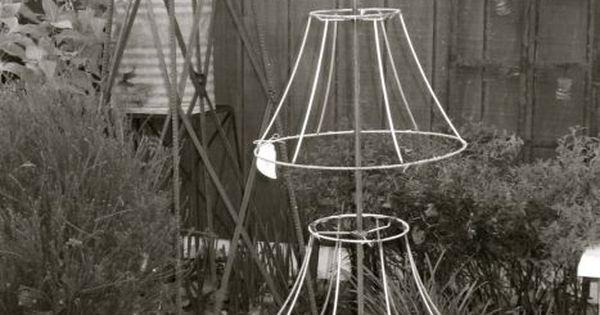 Rbol con estructuras de l mparas navidad pinterest - Estructuras para lamparas ...