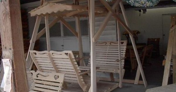 Wooden Rocker Gliders From Amish Swings Amp Things Glider