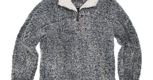 True Grit Frosty Tipped Pile Zip Pullover Sweaters
