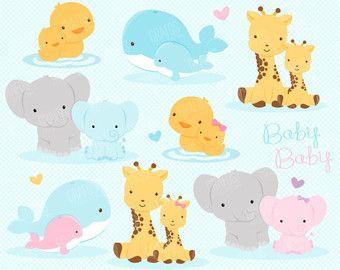 Babies Animals Digital Clipart Set Animals Clipart Zoo Etsy Clipart Bebe Clip Art Animais