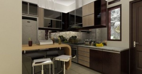 Desain kitchen set modern minimalis bikin furniture for F furniture bandung