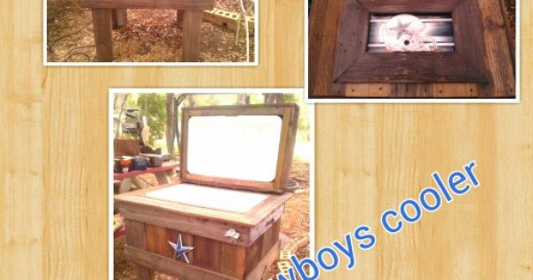 Dallas Cowboys Recycled Wood Cooler Wood Pinterest Wood Cooler Dallas And Pallet Furniture
