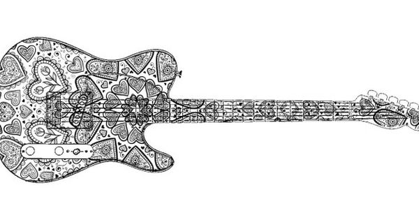 Adult Coloring Pages Electric Guitar