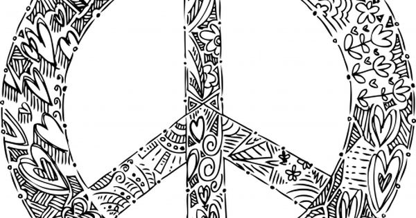 Peace sign mandala pages coloring pages for Peace sign mandala coloring pages