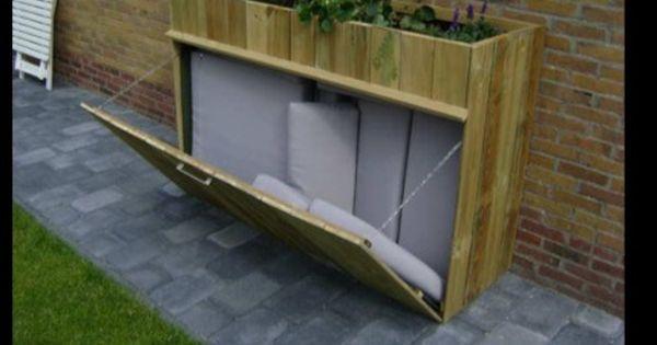 tolle aufbewahrung f r die gartenkissen verschieben zu garten pinterest g rten m nchen. Black Bedroom Furniture Sets. Home Design Ideas