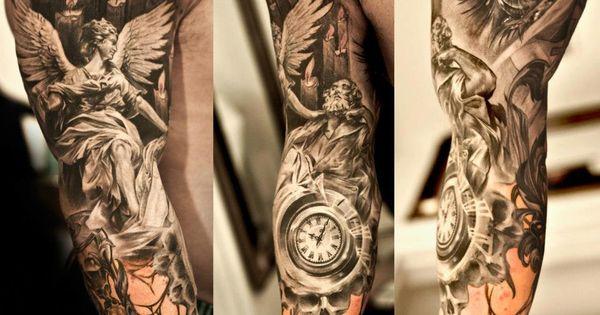 Amazing Full Sleeve Tattoo - http://99tattooideas.com/amazing-full-sleeve-tattoo/ tattoo tattoos ink