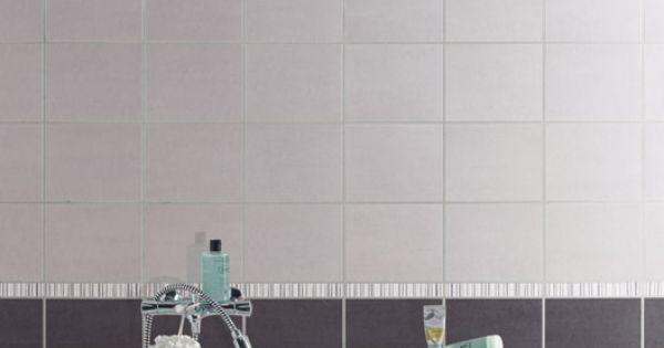 Carrelage mural fly a ro aero en fa ence gris moyen 20 x for Faience salle de bain prix