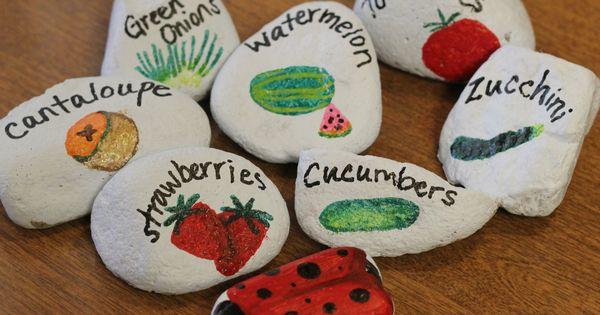 DIY garden rocks