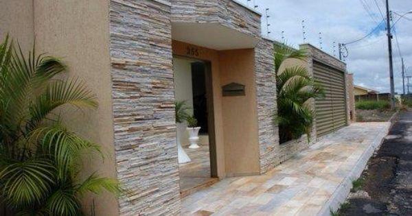 Frente de casa de piedra fachadas pinterest piedra - Piedra rustica para fachadas ...
