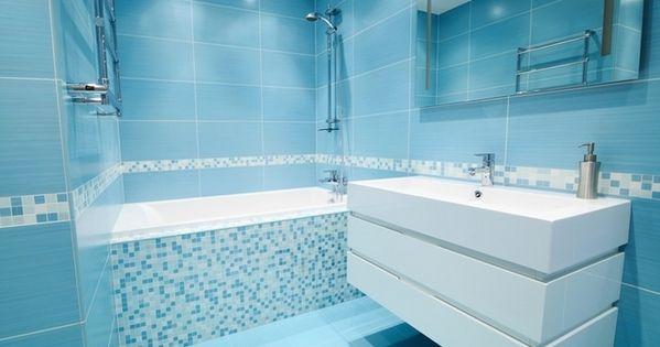 Id e salle de bain bleu turquoise et blanc salles de for Salle de bain bleu turquoise et blanc