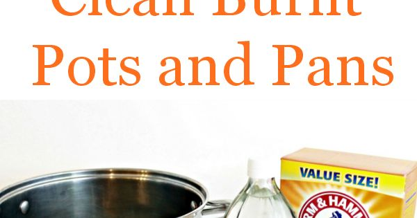 How to clean burned pots and pans in minutes the natural sodas and cast iron pot - Clean burnt pot lessminutes ...