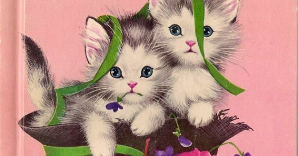 Vintage Kids Book The Kitten Twins A Rand Mcnally By