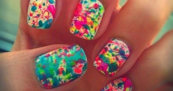 Pretty nails, great for Spring/ Summer