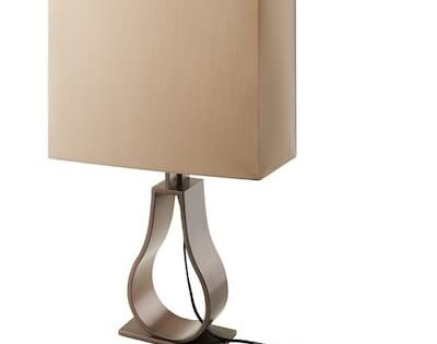 Stiltje Table Lamp With Led Bulb Off White Aluminum Color Ikea In 2020 Lamp Table Lamp Wood Beautiful Lamp