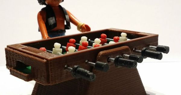 Futbolin miniatura custom miniature table football figura for Table playmobil