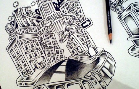 free download urban tattoo tattoo drawing pinterest tattoo art flash tattoos and art. Black Bedroom Furniture Sets. Home Design Ideas