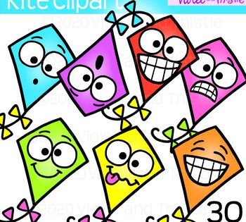 Kite Clipart Cute Kite Faces Clip Art Emoji In 2021 Clip Art Line Art Images Black And White Lines