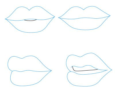 how to draw lips for kids