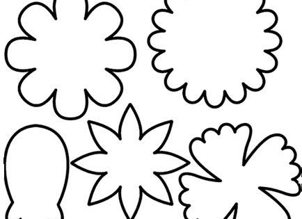 Flower template, Templates and Images of flowers on Pinterest
