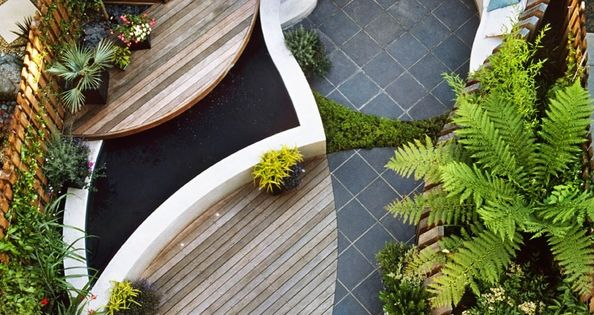 Super cool ideas for smaller yards... The examples shared below are all