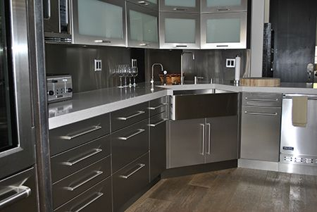 Stainless Steel Kitchen Cabinets Cabinet Doors And Countertops