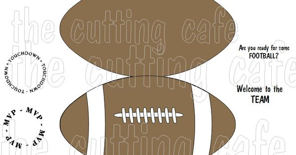 Football With Images Shaped Cards Cards Handmade Valentine S