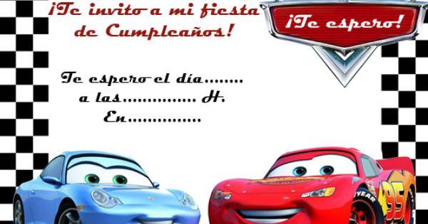 Tarjeta De Cumpleaños De Cars Para Editar Tarjetas De