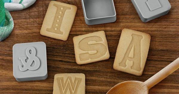 Bake cookies that really make a statement with Letter Pressed Cookie Cutters.