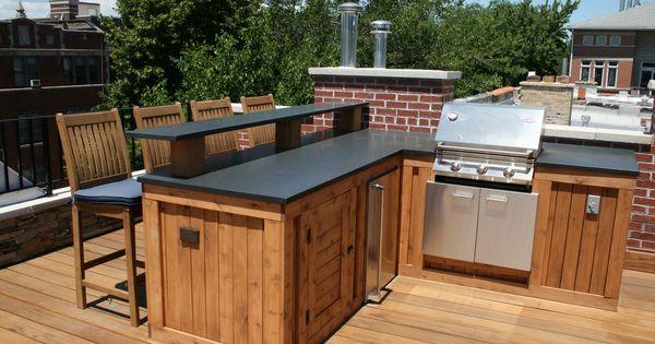 Built in grill bar area granite countertop under counter for Built in bar counter