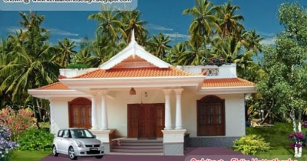 Kerala Style Single Floor House Plan 1155 Sq Ft Simple House Design Kerala House Design Kerala Houses