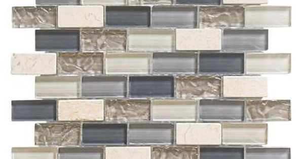 Jeffrey Court Cedar Cove 12 In X 12 In X 8 Mm Glass Travertine Mosaic Wall Tile 3 55 Lb Each 99431 At T Mosaic Wall Tiles Wall Tiles Stone Mosaic Tile