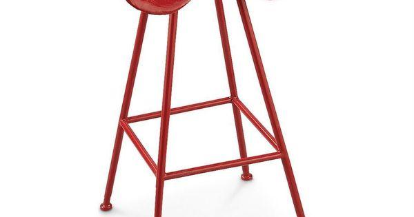 Red Iron Metal Tractor Seat Bar Stool Barstool Rustic