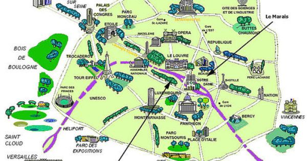 Hotel Map Paris Paris Map Paris Travel Paris Travel Guide