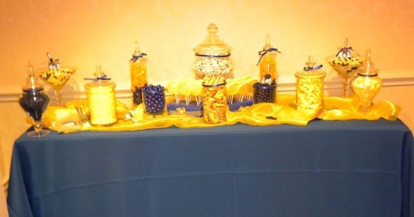 great blue and yellow theme