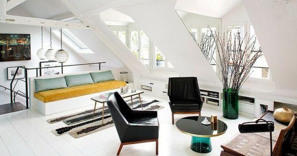 modernes wohnzimmer dachschr ge sofa set dachschr ge 2. Black Bedroom Furniture Sets. Home Design Ideas