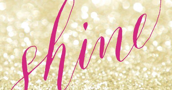 Pink And Gold Glitter Iphone Wallpaper: Pink Fuchsia Shine Gold Glitter Iphone Background