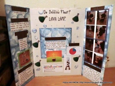 Lava Lamp Experiment - Science Fair Board   MADE - It's a