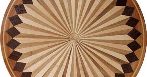 IPWM 13 Fan B2 Exquisite Hardwood Inlay Floor Medallions