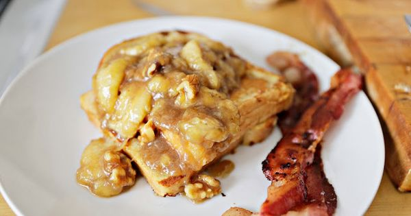 Caramelized bananas French toast- Gracefully Searching | Brekkie ...