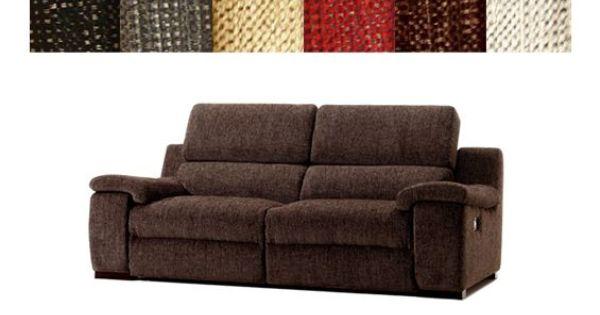 Cl sico sof relax de dos plazas tapizado en tela varios - Tela tapizado sofa ...