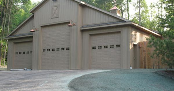 Pole barns barns pinterest pole barns barns and for Oversized garage with apartment