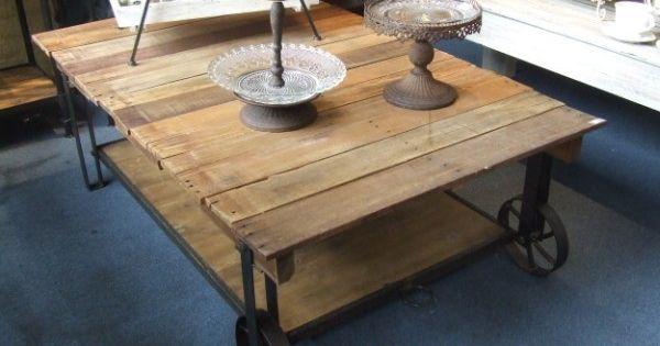 Tablones r sticos en tapa de madera palet con estante - Tablones de madera segunda mano ...