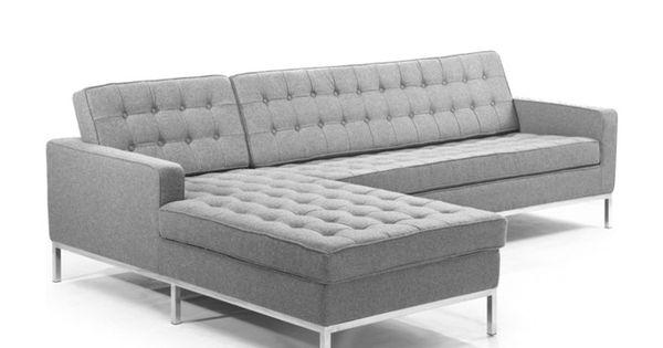 Sofa Florence Knoll Esquinero Personalizado Sofa Seccional Gris Seccional Gris Florence Knoll