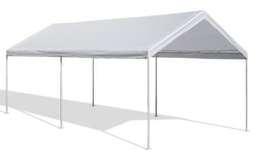 Canopy 10x20 Instant Setup Steel Frame Water Resistant Party Wedding Tent White Massmarket Carport Canopy Canopy Tent Canopy Shelter