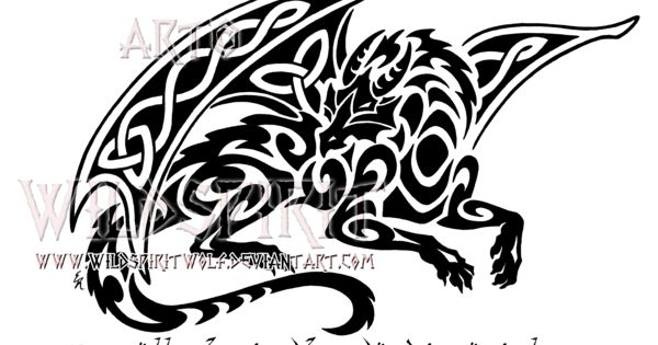 dd97d6ca4 ... Smaug Celtic Tribal Dragon Design By Wildspiritwolf On: Smaug Celtic Tribal  Dragon Design By WildSpiritWolf ...