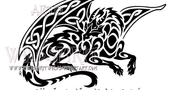 193329fcc832d ... Smaug Celtic Tribal Dragon Design By Wildspiritwolf On: Smaug Celtic  Tribal Dragon Design By WildSpiritWolf ...