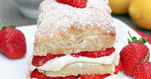 Strawberry Lemon Cream Napoleons on MyRecipeMagic.com | My Recipe ...
