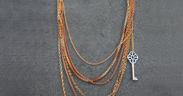 Layered Key Necklace'